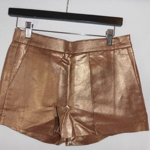 J Crew bronze metallic skort  Size 00 NEW w/tag